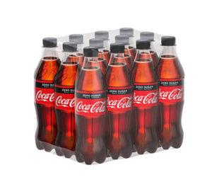 Cola-Zero-Flaschen